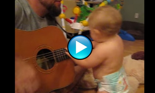 Cutest Rock and Roll Baby You Will Ever See! Watch Her